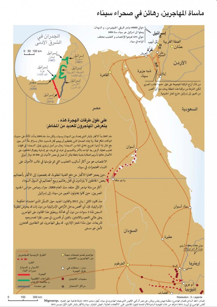 مأساة المهاجرين، رهائن في صحراء سيناء